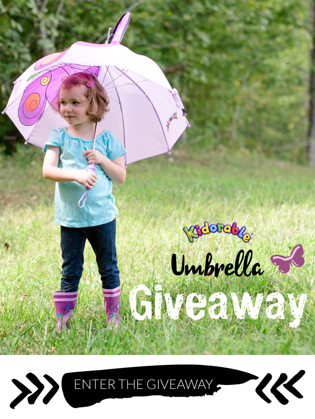 girl with kidorable umbrella and boots