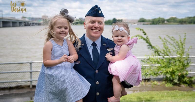 Richardson Military Promotion | Family Photographer Washington, DC Area