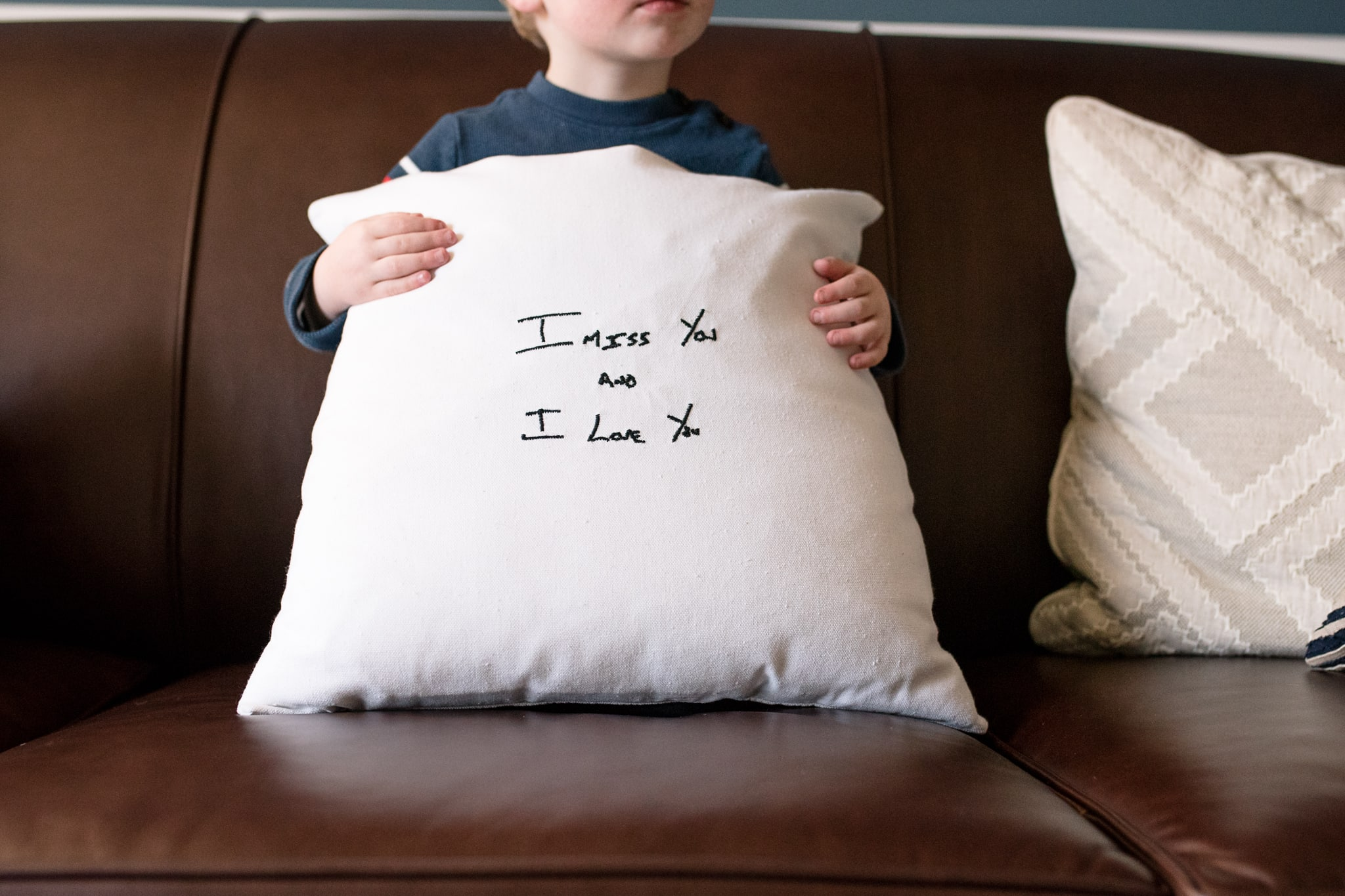 Military Family Deployment Gift Idea | Stitches by Natalie Pillows