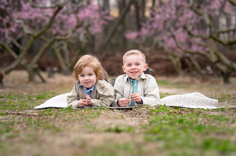 Calvert County Photographer: Peach Blossom Minis at Swann Farms