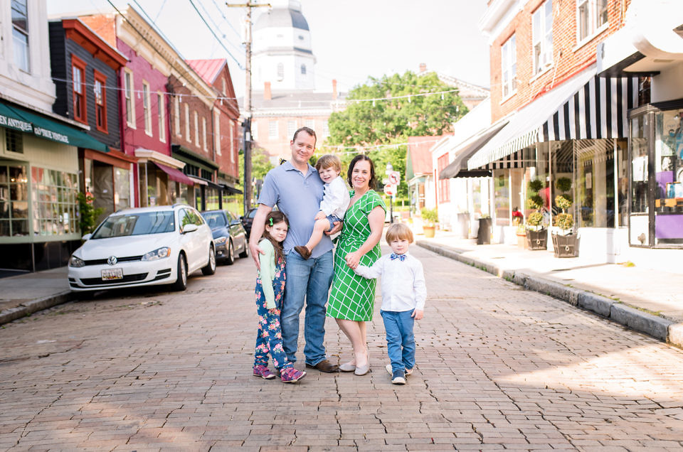 Downtown Annapolis Family Photographer | Slack Family