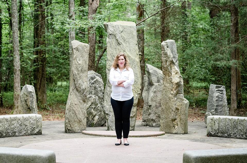 Session at Anne Marie Sculpture Garden | Krista from Garrett Music Academy's Head Shots